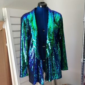 Gemma Sequin Tailored Blazer